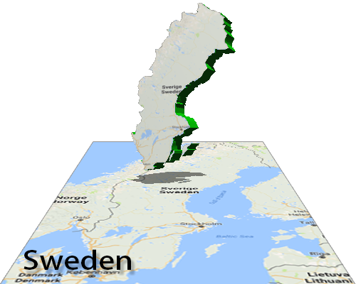 Interactive Flash Maps - Sweden map interactive